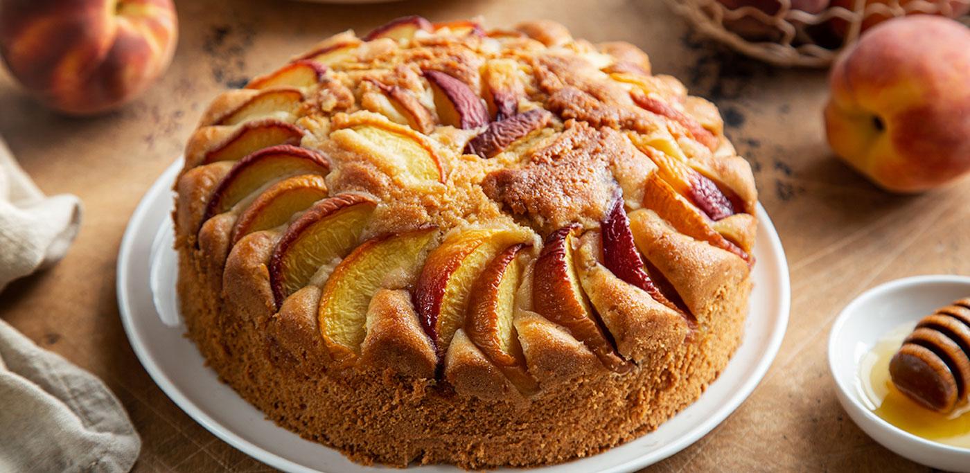 Peach upsidedown cake